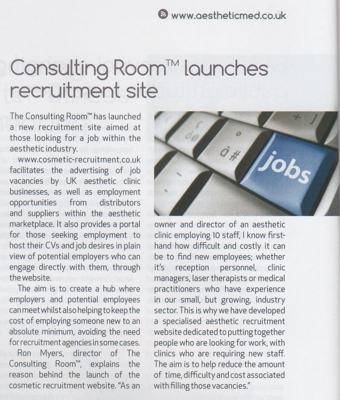 Consulting Room launches recruitment site