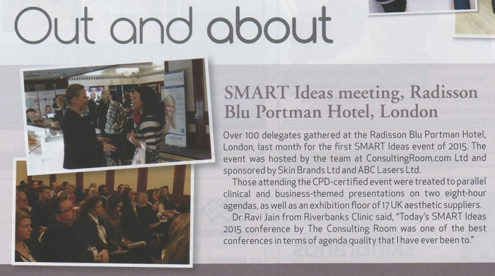 SMART Ideas meeting, Radisson Blu Portman Hotel, London