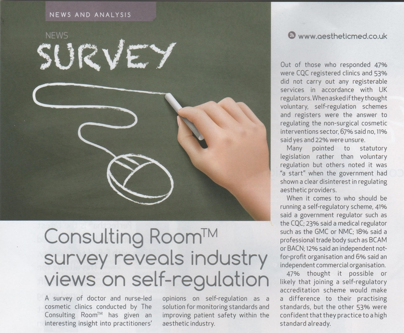 Consulting Room survey reveals industry views on self-regulation