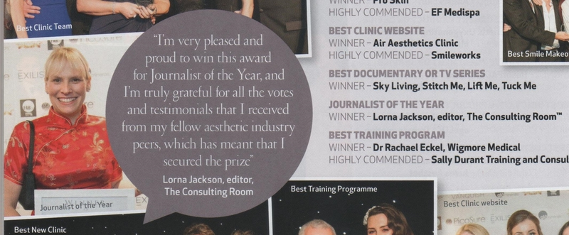 MFMB Awards, Lorna Jackson, editor,  The Consulting Room