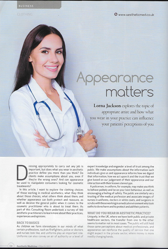Aesthetic Medicine Magazine March 2017 - Appearance Matters - Page 1
