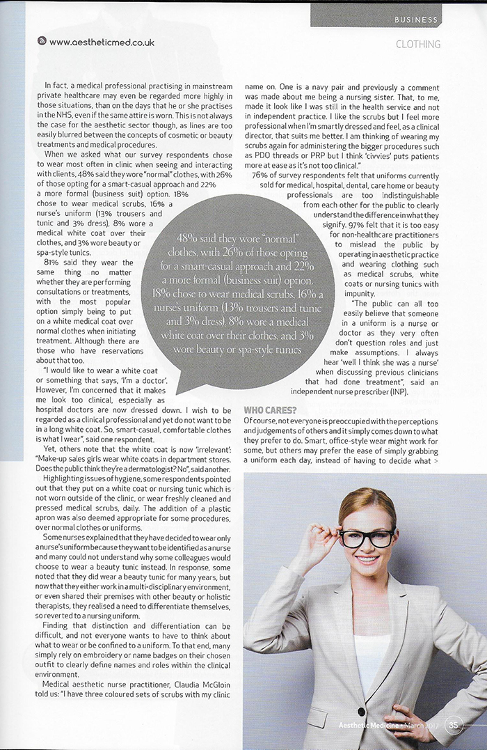 Aesthetic Medicine Magazine March 2017 - Appearance Matters - Page 2
