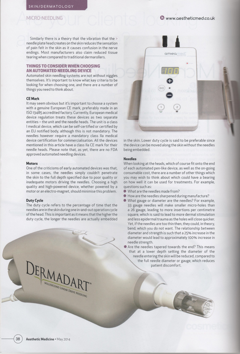 page 38 of aesthetic medicine magazine