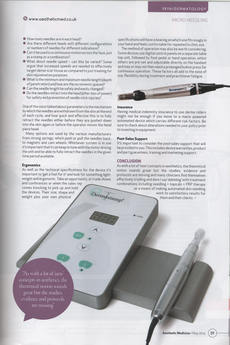 page 39 of aesthetic medicine magazine