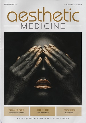 Aesthetic Medicine September 2015 Cover
