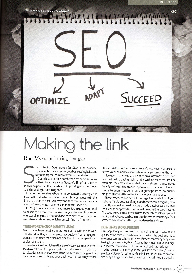 Making the link by Ron Myers p27